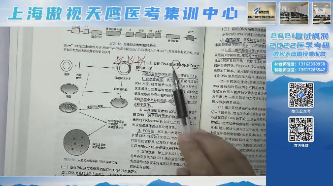 傲视天鹰医学考研练习:  DNA重组技术中,用来筛选重组体的方法